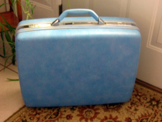 Vintage Sears Courier II Suitcase Samsonite Hard Sided Luggage