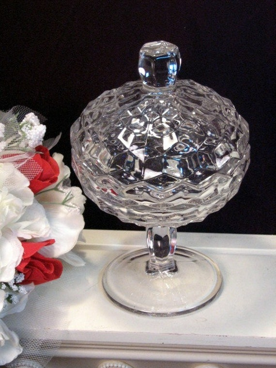 Vintage Fostoria American Crystal Footed Tall By Havetohaveit