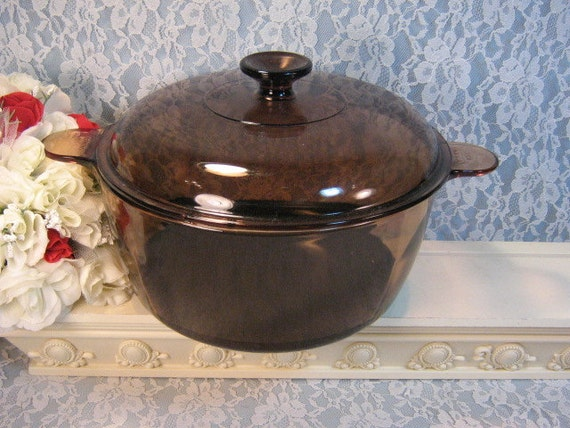 corning corningware visions cookware glass dutch oven vintage. Black Bedroom Furniture Sets. Home Design Ideas