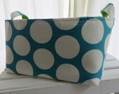 Fabric Organizer Storage Container Basket Bin - 12 x 12 x 7 Choose your color combinations