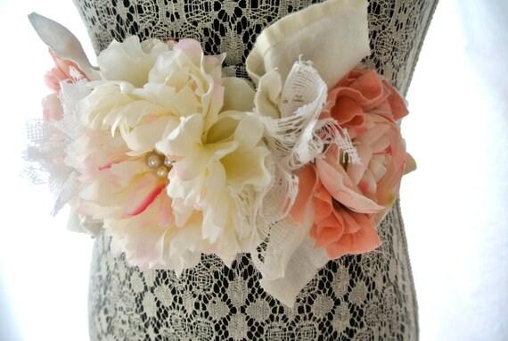bridal sash romantic shabby sash bridal obi wedding sash. Black Bedroom Furniture Sets. Home Design Ideas