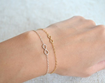 Tiny Infinity Bracelet - 14K Gold Filled