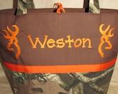 Buck deer mossy oak camo camouflage buck deer diaper bag you choose name handmade to order