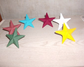 Star  cast iron nail stars PICK YOUR COLOR.