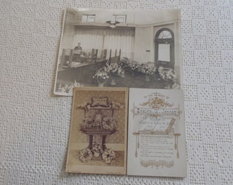 Vintage Cabinet Cards & Photograph of Bank Interior