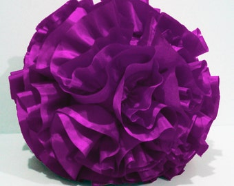 dark pink purpleround pillow,round cushion,homedecor,housewares,handmade pillow , throw pillow,pouf,shabby chic,retro, circle pillow,bedroom