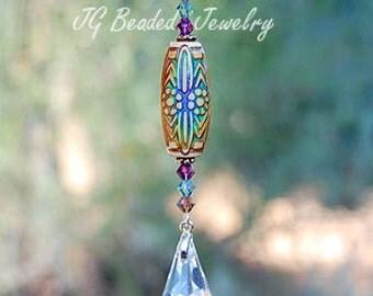 Color Changing Mood Bead Prism Crystal Suncatcher, Rearview Mirror Car Decoration, Home Decor, Ornament, Rainbow Prism