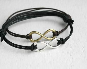 Infinity Bracelet - good for man and woman (many colors to choose)