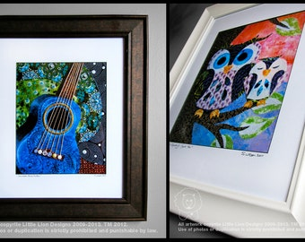 Framed and Matted Prints of Original Artwork by Stephanie Urban - Ready to Hang