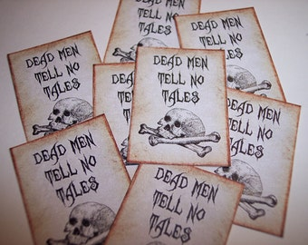 Dead Men Tell No Tales Steampunk Stickers set of 8