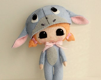 Peek-a-Boo Eeyore pdf Pattern - Instant Download