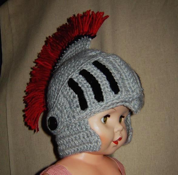 Knitted Knight Helmet Pattern Free Kortnee Kate Photography