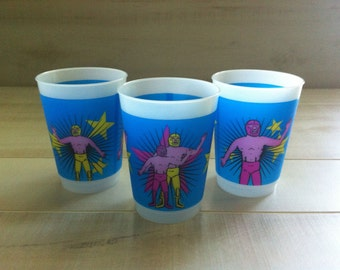 Luchador Wrestlers Plastic Cup