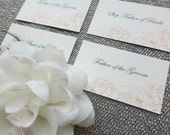 PRINTED Place Cards - Individual names set of 50 - Style EC1 - PEONY COLLECTION