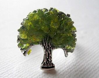 Jade Green Tree Ring Tree of Life Ring Green Glass Tree Jewelry Recycled Glass Gemstone Ring Adjustable Midi Custom Tree Ring with Tree