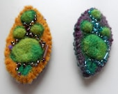 Mother Goddess Brooch - Amulet - Earth Mother - Hand made felt - embroidered - beaded
