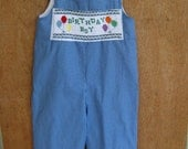 Birthday Smocked Short or Longall Sized 3 month- size 4