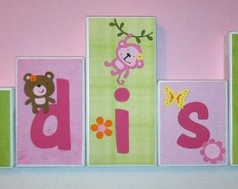 Personalized Wood Blocks Baby Teen Room Custom By