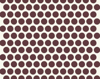 Birch MOD BASICS Dottie Color Mahogany- Organic Cotton Fabric- Check Out These Shipping Rates