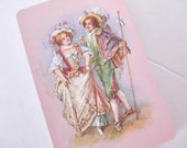 18th c French Couple Vintage Pink Playing Cards Full Deck