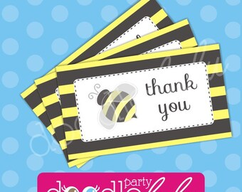 INSTANT DOWNLOAD DIY Party Favors Bumblebee Birthday Printable Digital Favor Tags in 2 Designs - DoodleLulu by 2 june bugs