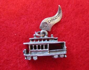 Sterling silver San Francisco Chinatown streetcar charm