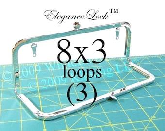 17% OFF 3 Nickel-free 8x3 EleganceLock(TM) purse frame with loops