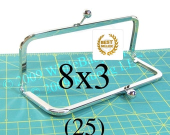 27% OFF 25 Nickel-free 8x3 purse frames with kisslock