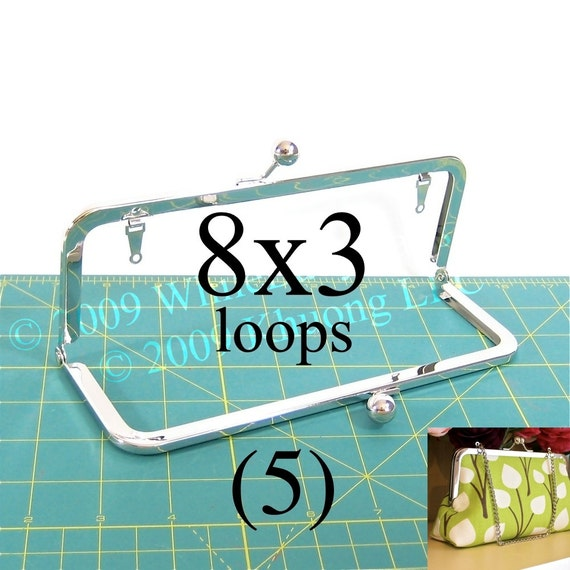 12% OFF 5 nickel-free 8x3 purse frame kisslock with loops