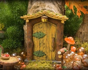 popular items for rustic fairy door on etsy