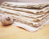 Beautiful white handmade abaca kozo paper, 8 x 10 inches