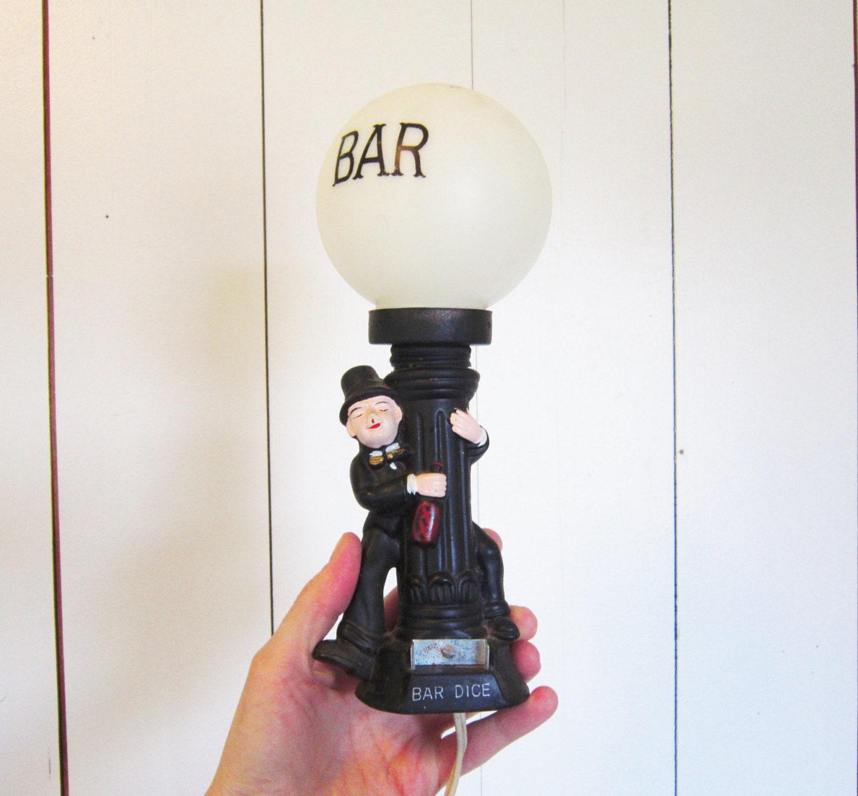 Vintage Enesco Bar Lamp Street Light Bar Dice