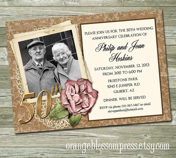 50e anniversaire de noces dor invitation f te for 50e anniversaire de mariage robes en or