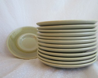 13 Franciscan Pebble Beach Saucers 1970s
