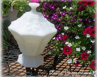 Milk Glass Candy Dish Great for Weddings