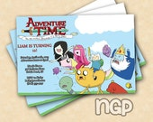 Adventure Time Birthday Invitations Digital Copy