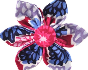 Add a Fabric Flower to Match Your Collar - Your Choice of Fabric and Size