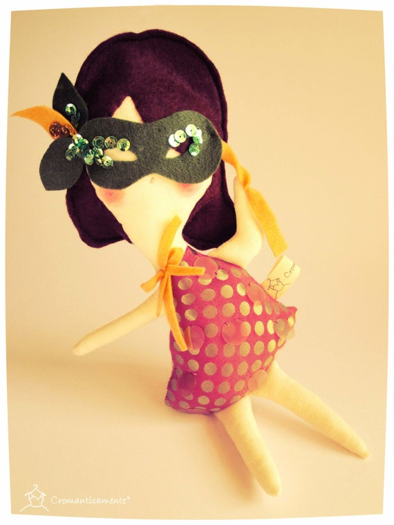 FEBRUARY Birthday DOLL of the month - Handmade in Italy -