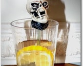 A Wicked Looking Skull - Drink Stirrer