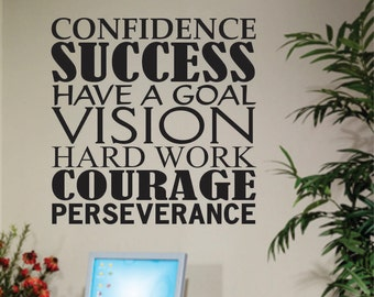 Success Word Collage, Vinyl Wall Lettering, Vinyl Wall Decals, Vinyl Decals, Vinyl Lettering, Wall Decals, Inspirational Decal, Office Decal