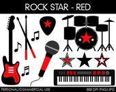 Rock Star Clipart - Digital Clip Art Graphics for Personal or Commercial Use