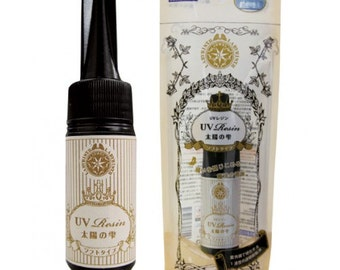 One 25g Bottle of Padico UV Resin Soft Type. Drops from the Sun. Cures in minutes. Makes charms, jewels and jewellery.
