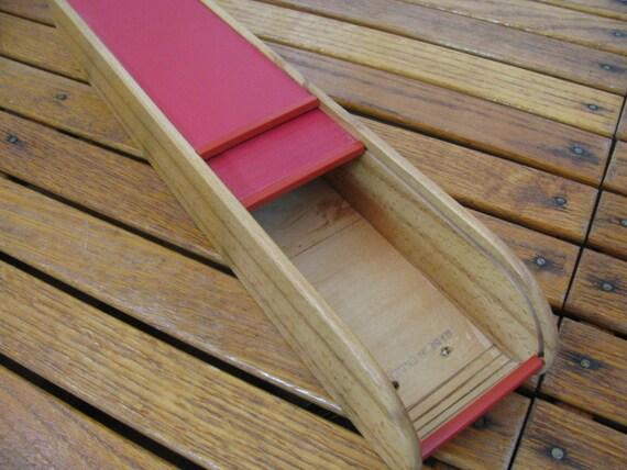 Knitting Needle Storage Box : Vintage wood roll top box knitting needle storage by gaelianna