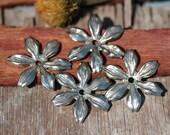 Nickel Silver Blank  24mm Daisy Flower Echinacea Style Jewelry Blanks 3D Shape Jewelry Making