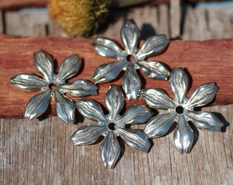 Nickel Silver Blank  24mm Daisy Flower Echinacea Style Jewelry Blanks 3D Shape Jewelry Making