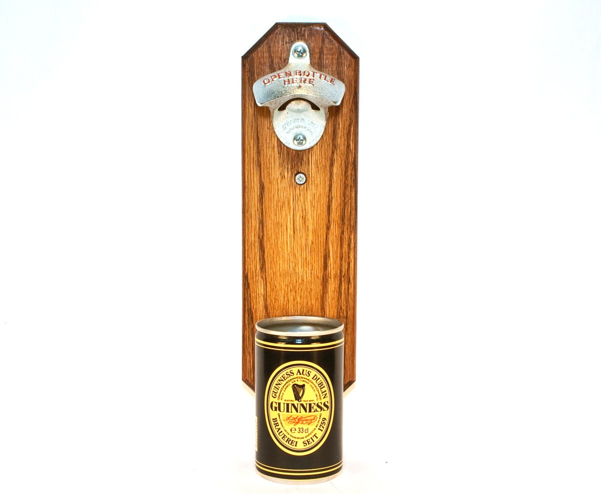 wall mounted bottle opener with vintage guinness beer by handysam. Black Bedroom Furniture Sets. Home Design Ideas