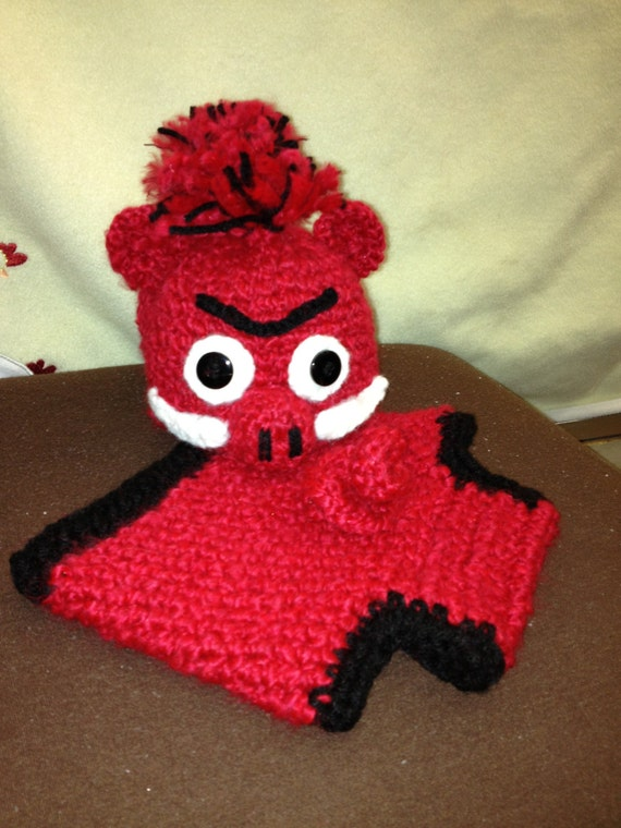 Book Cover Crochet Hats : Arkansas razorback crochet hat and diaper cover
