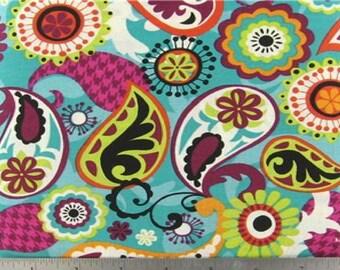 Funky Paisley Fabric - 1 yard