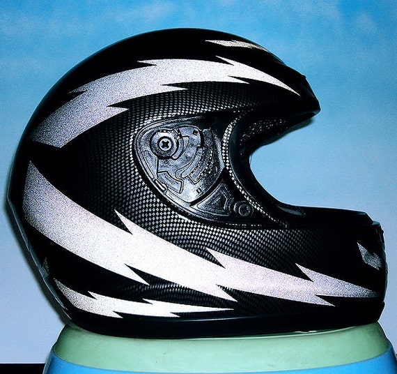 Lightning Reflective Decal Set / Reflective Lightning Helmet
