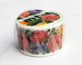 Colourful Roses washi masking tape tape 30mm x 10M